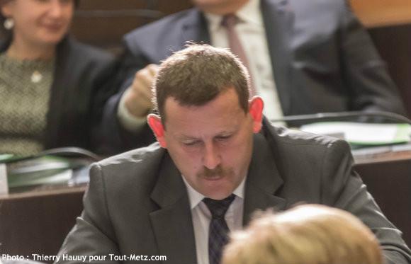 Patrick REICHHELD, lors de l'installation du conseil départemental le 02 avril 2015