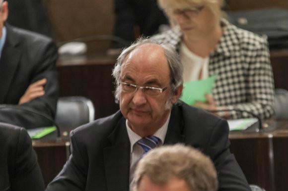 Pierre ZENNER, lors de l'installation du conseil départemental le 02 avril 2015