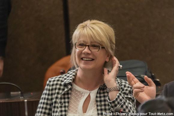 Valerie ROMILLY, lors de l'installation du conseil départemental le 02 avril 2015