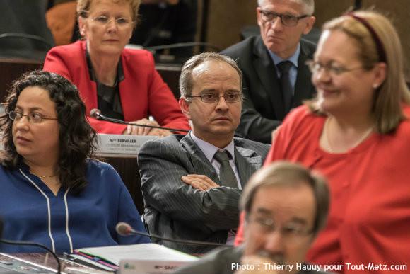 Sébastien Koenig, lors de l'installation du nouveau Conseil départemental le 02 avril 2015. Photo : Thierry Hauuy