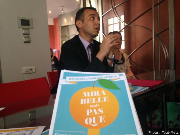 Hacène Lekadir, adjoint au Maire de Metz en charge de la culture, lance l'appel à candidatures pour l'élection de la Reine de la Mirabelle 2015.