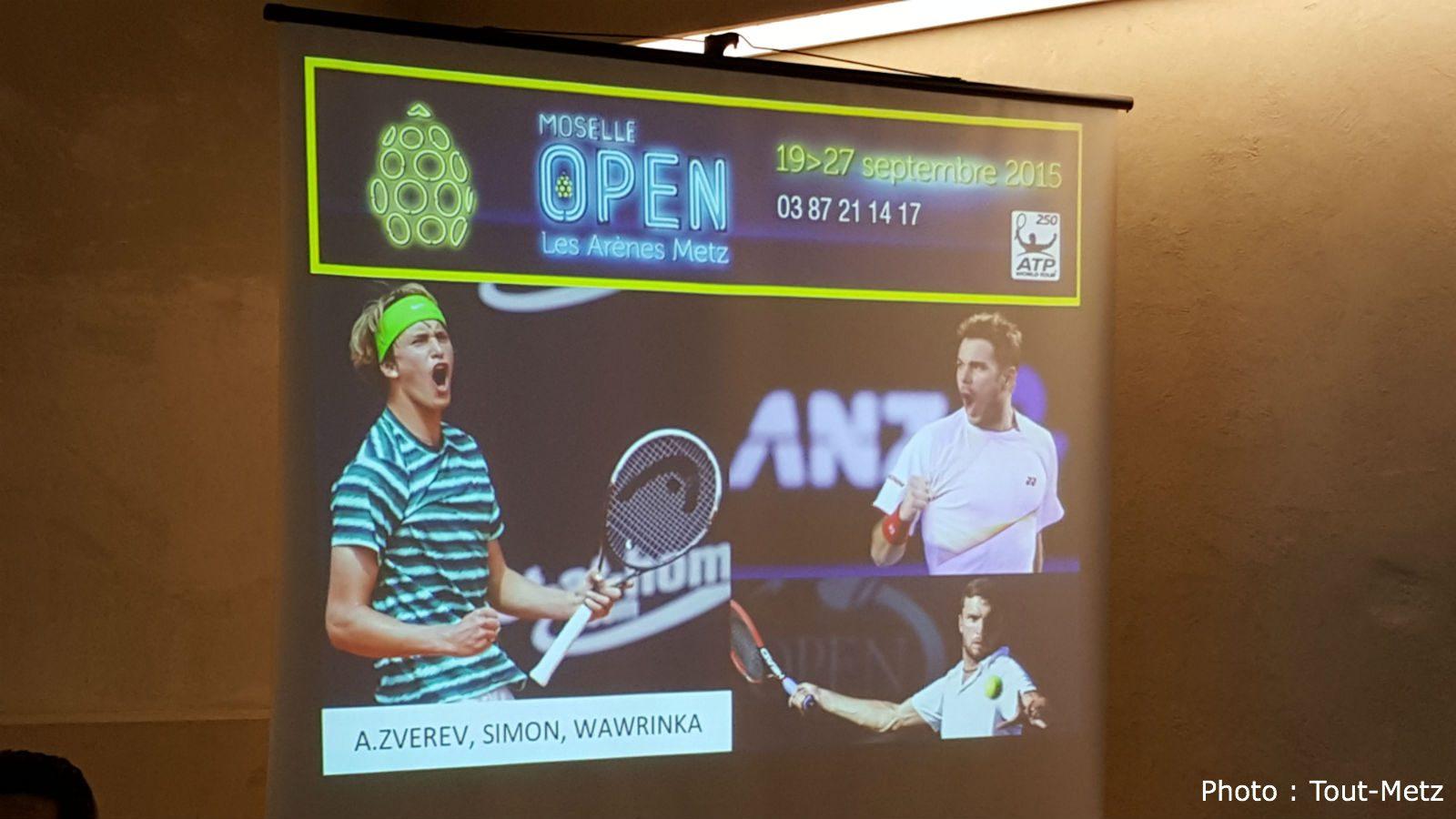 Le nom de 3 premiers joueurs confirmés pour le Moselle Open 2015, avec une grosse surprise