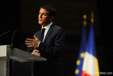La première pierre du centre des congrès de Metz posée par Manuel Valls