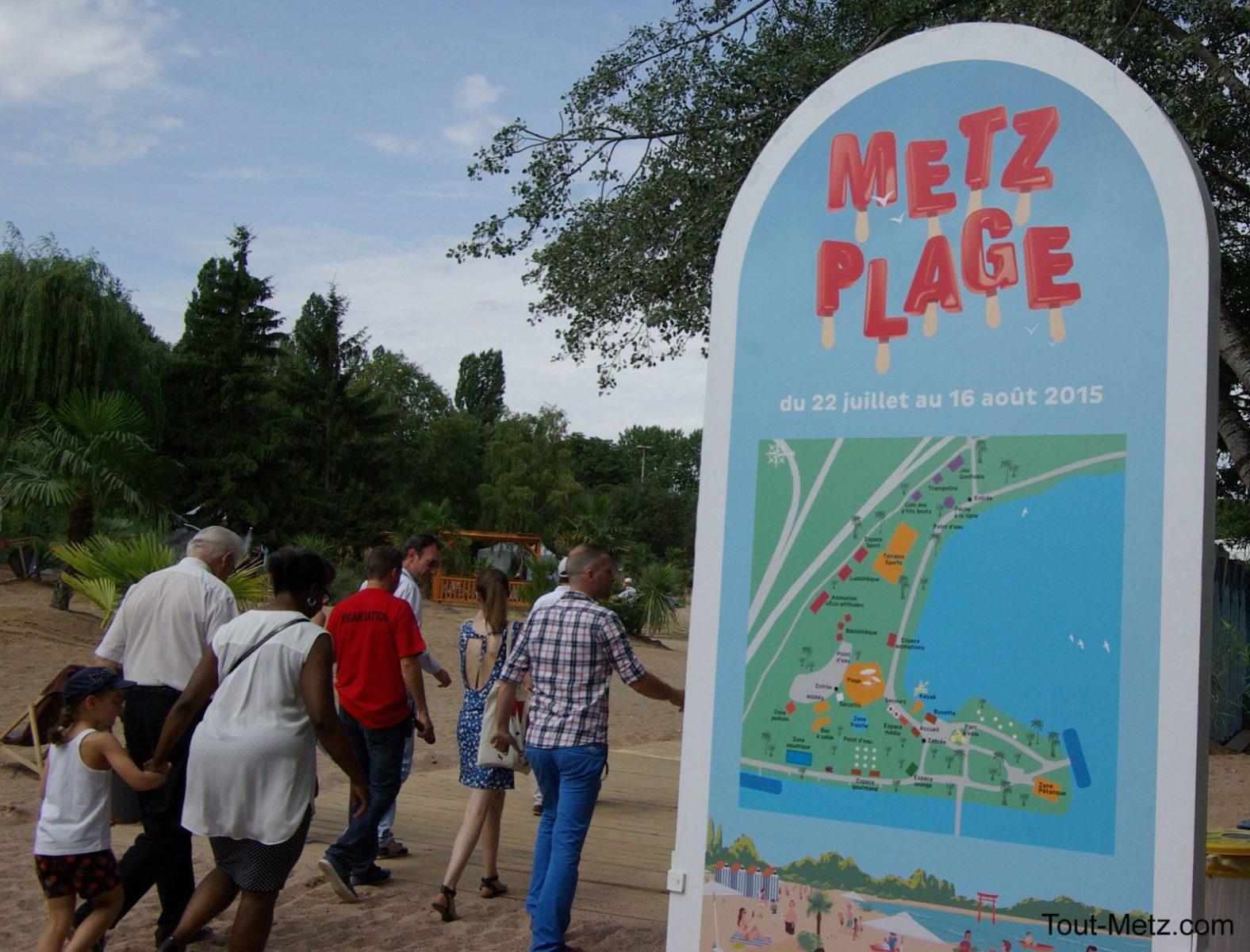 Le site de Metz plage fermé en raison du mauvais temps