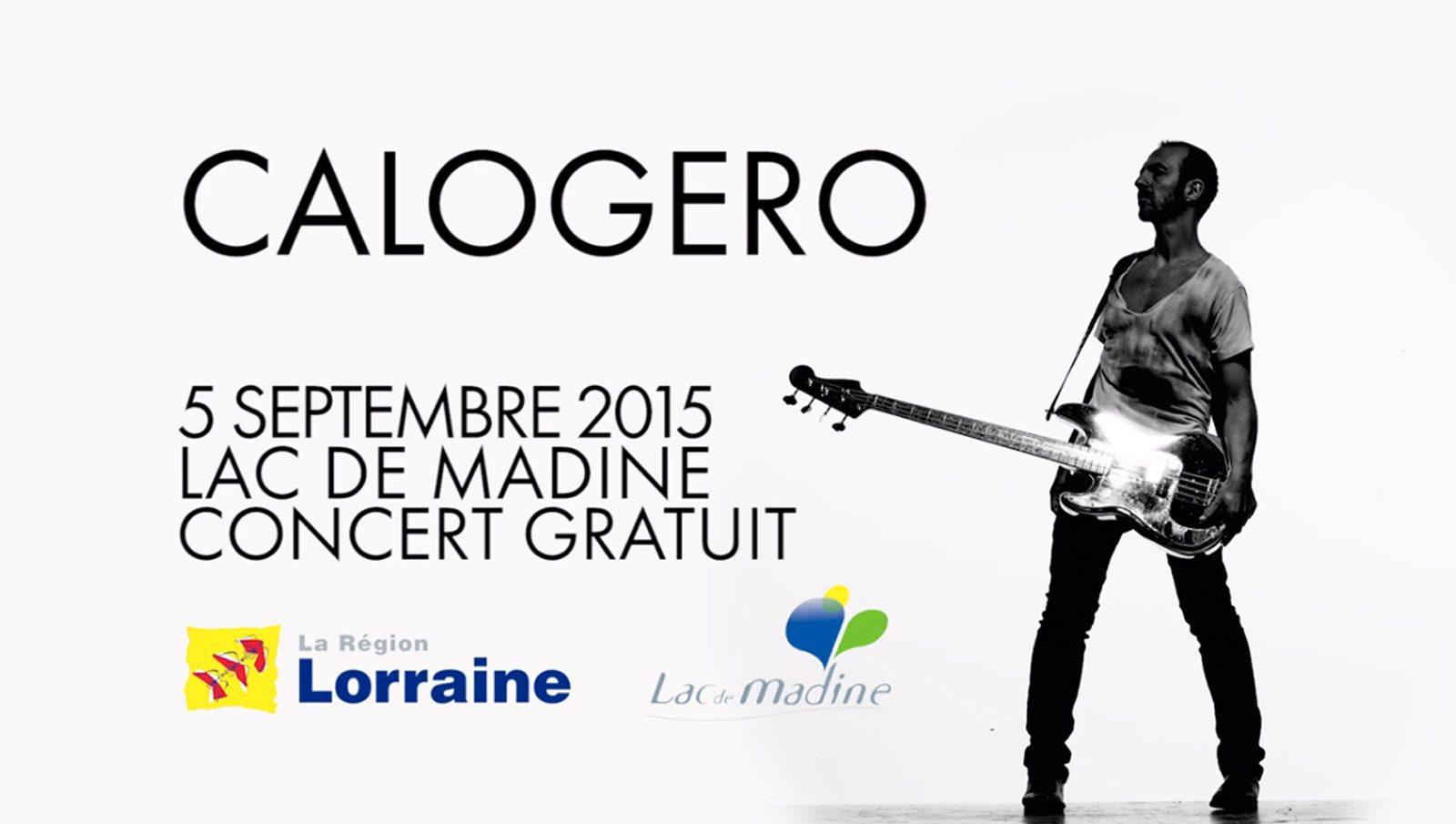 Calogero en concert gratuit au Lac de Madine : c'est ce soir !