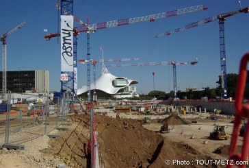 Visite du chantier du centre commercial Muse à Metz (photos)