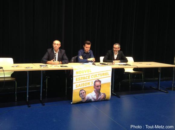 De gauche à droite : Thierry Hory, Maire de Marly - Raphaël Roux, Adjoint au Maire en charge de l'événementiel et Lionel Ruvera représentant le Label LN