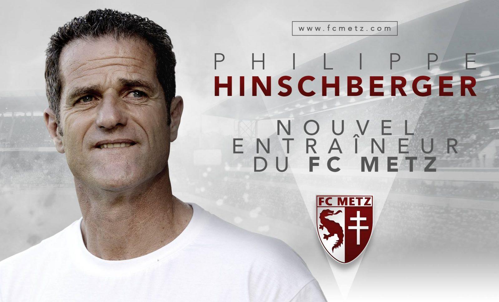 Philippe Hinschberger, nouvel entraîneur du FC Metz