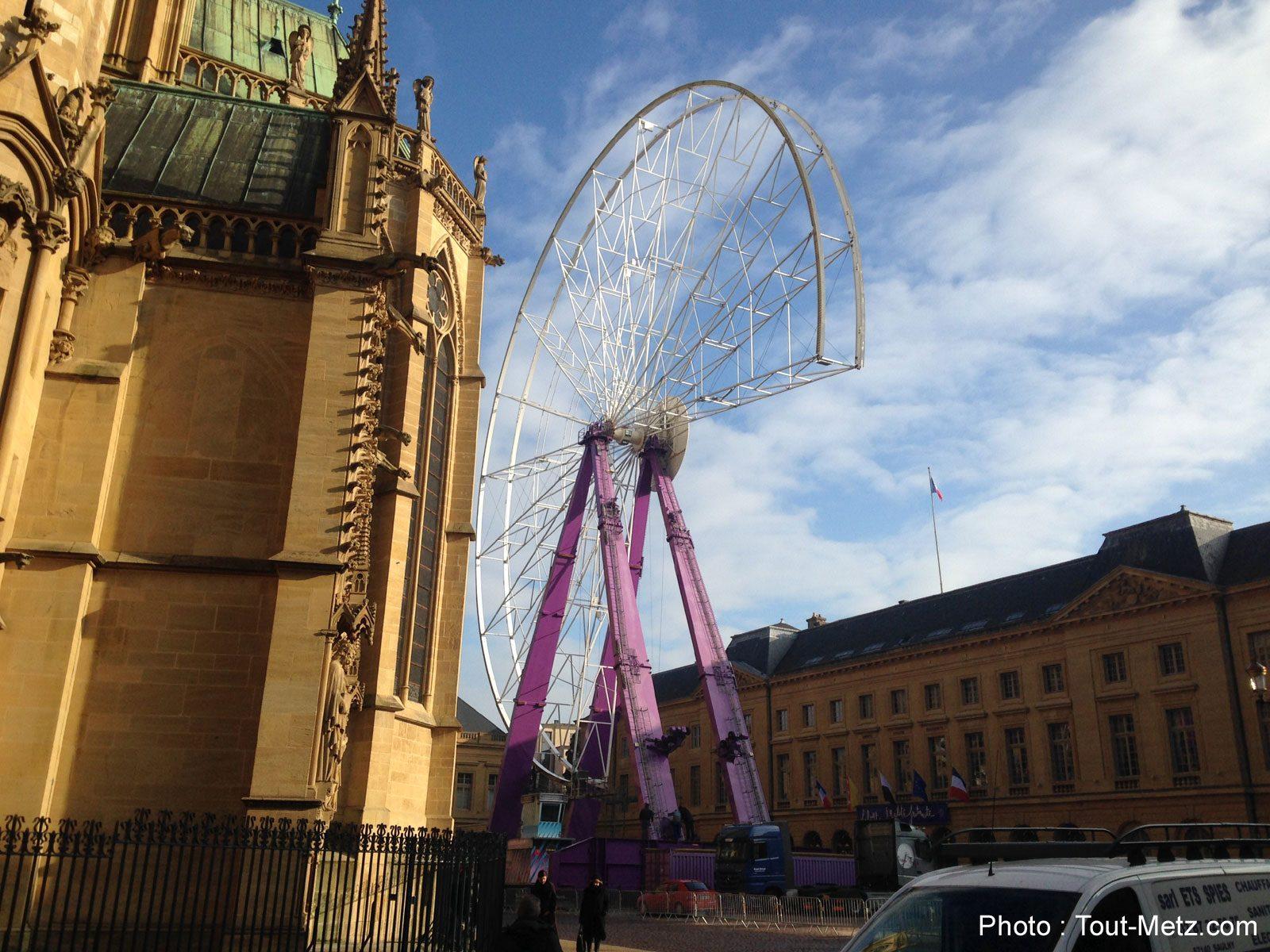 Photo of Grande roue démontée à Metz : un retour envisagé sur la Place d'Armes en 2016