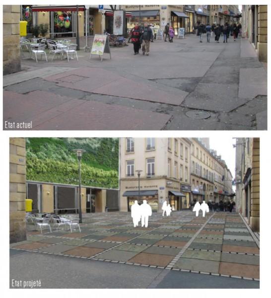 Le projet de revêtement dans la rue des clercs.