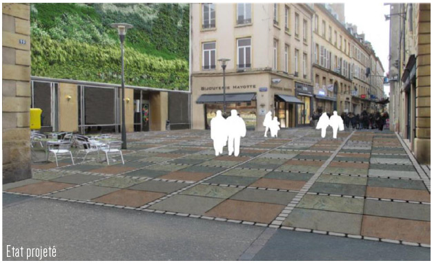 Photo de Nouveau design du centre piétonnier de la ville de Metz : un secret bien gardé (photos)