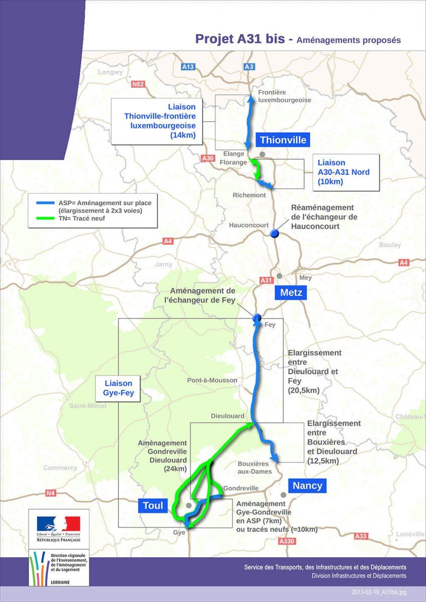 Autoroute A31 bis : le gouvernement confirme le projet, avec une concession à péage