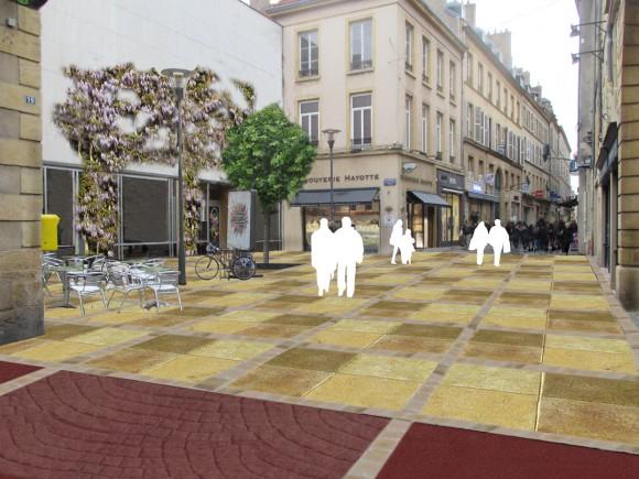 Visuel de la future placette Armand Knecht, située au sein de la rue des Clercs - Document remis