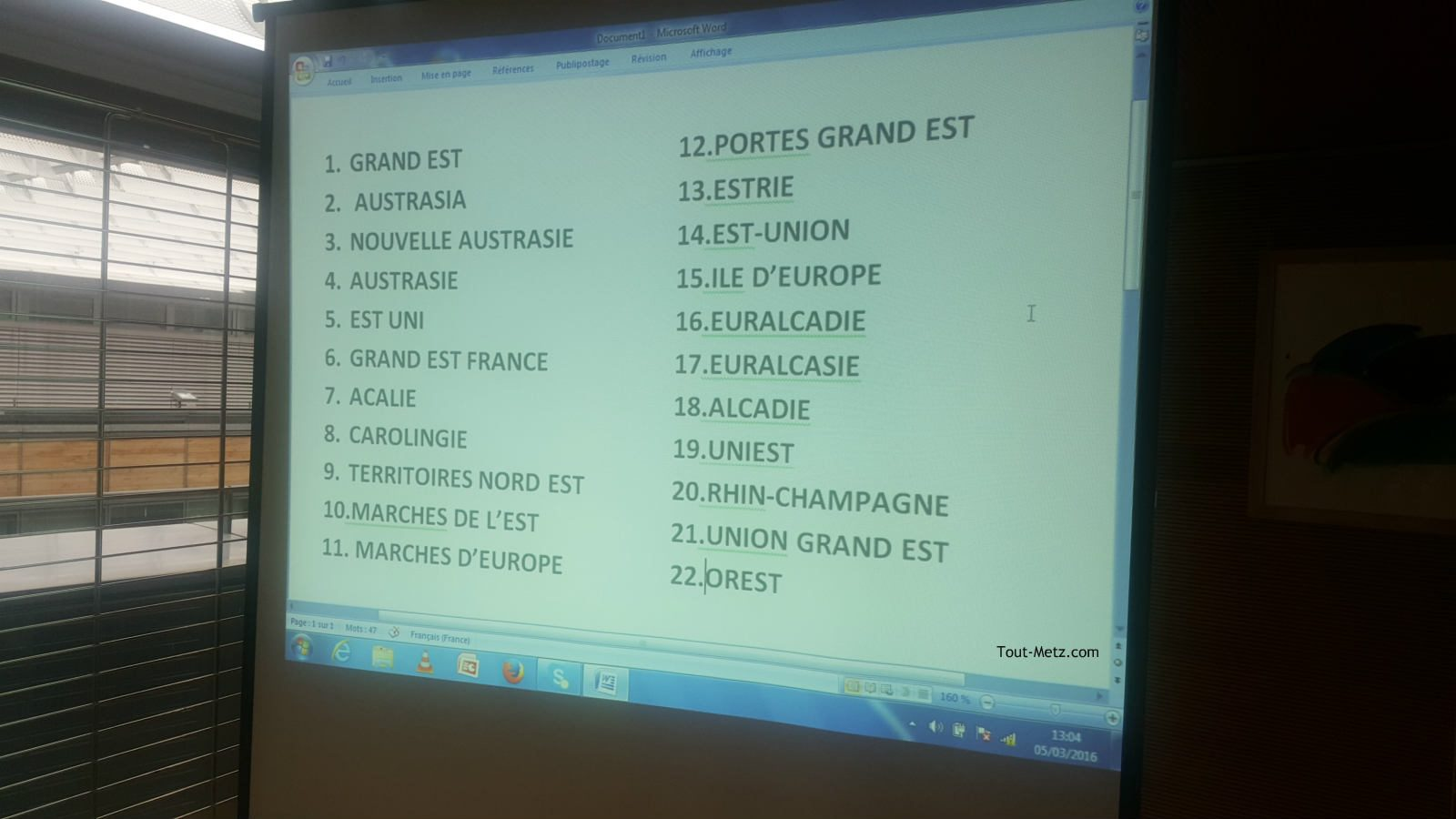 Nouveau nom de la région : dernière réunion pour sortir 3 propositions d'une liste de 15