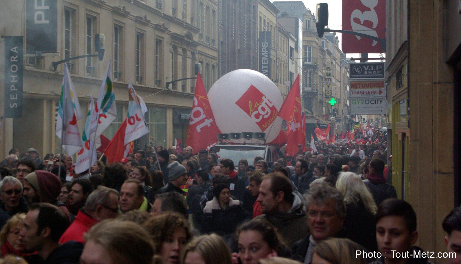Photo of Grève du 5 décembre : parcours de la manifestation à Metz