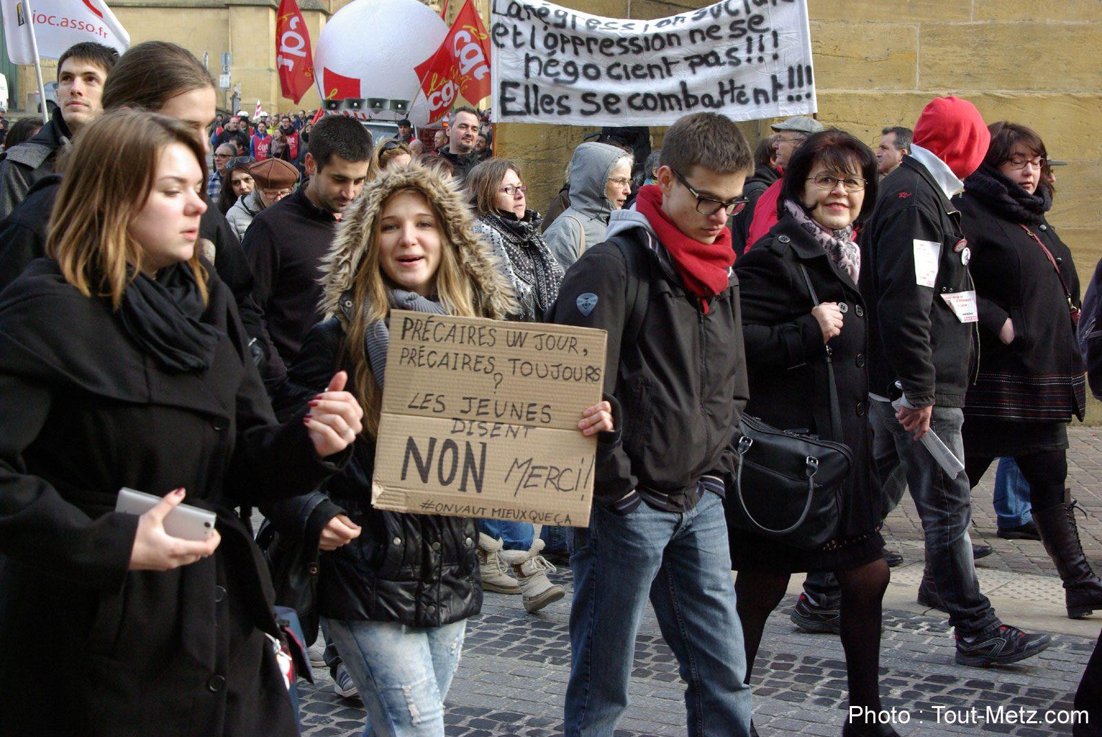Loi Travail : nouvelle manifestation des étudiants à Metz ce jeudi