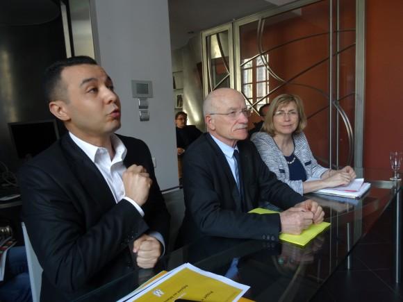 """Hacène Lekadir et Dominique Gros, deux des porteurs du projet """"Pierres numériques""""."""