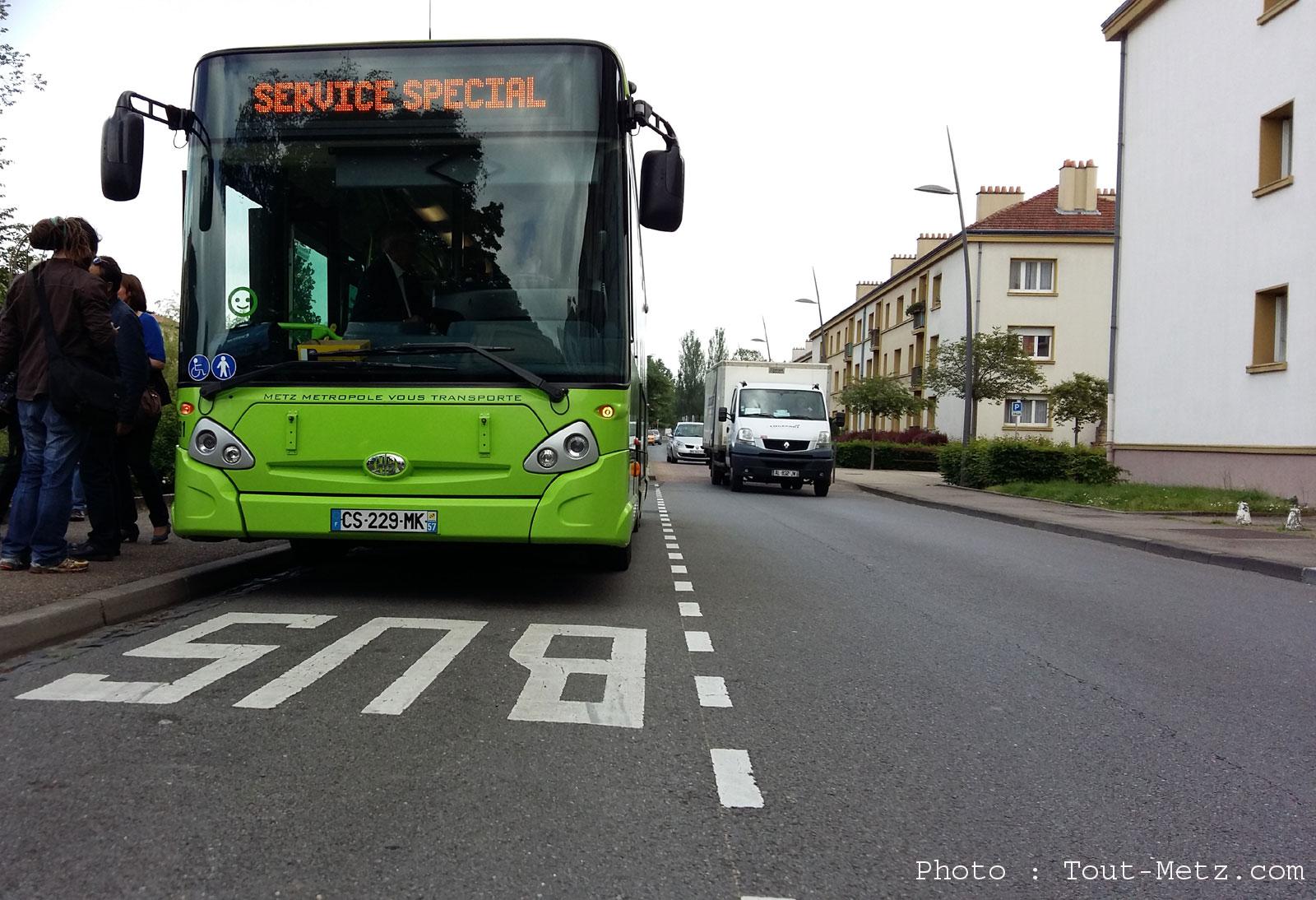 Juste avant Noël, les bus en grève à Metz Métropole