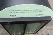 Un cendrier géant à Metz : avec votre mégot, votez pour ou contre la verbalisation à 68€