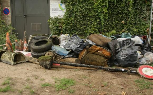 En trois ans, 3 tonnes de déchets ont été retirés du Canal de Jouy Photo : Moulins-les-Metz.fr