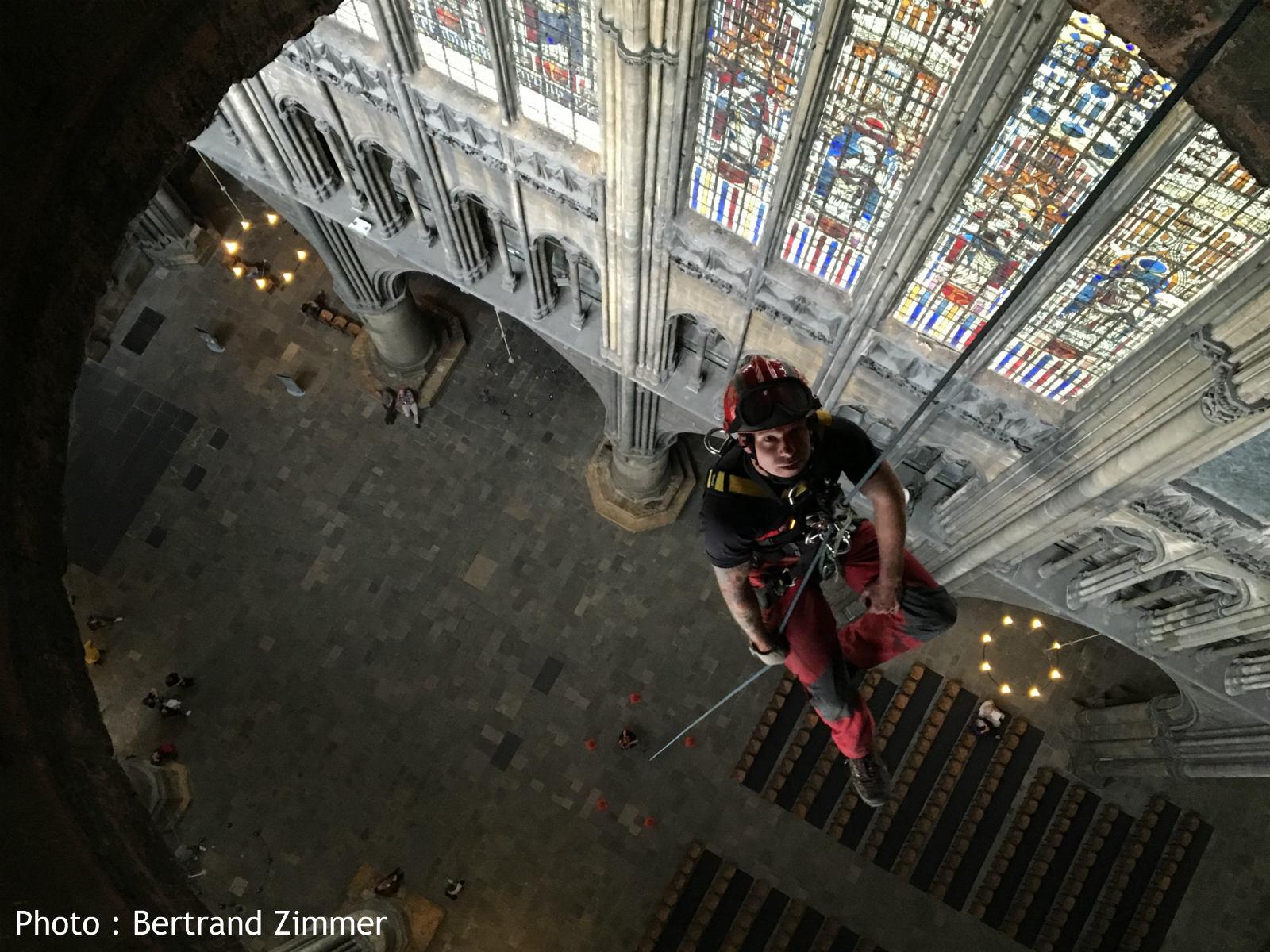 Blessés graves à la Cathédrale de Metz : exercice spectaculaire des pompiers à 50m de hauteur (photos et vidéos)