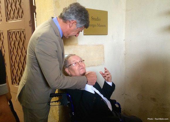 Messieurs Jean-Luc BOHL et Georges MASSON lors de l'inauguration du studio  - 24.06.2016, Metz