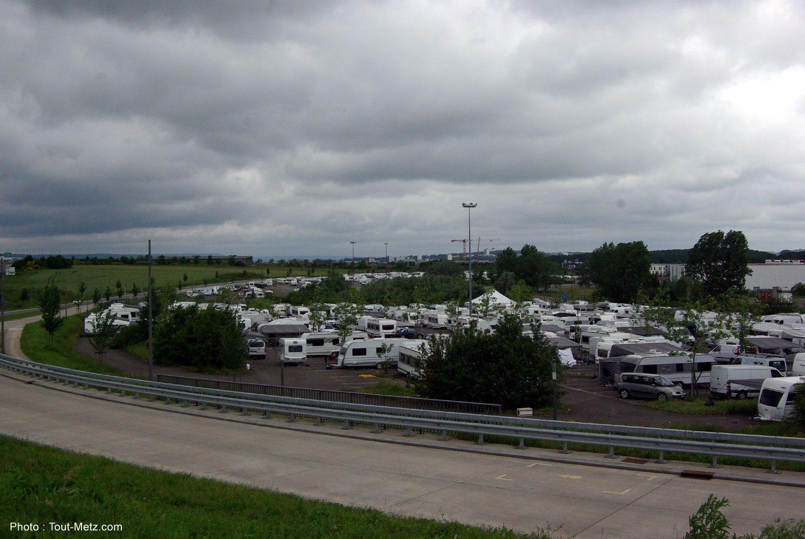 Gens du voyage : des centaines de véhicules occupent illégalement les parkings de Metz Expo