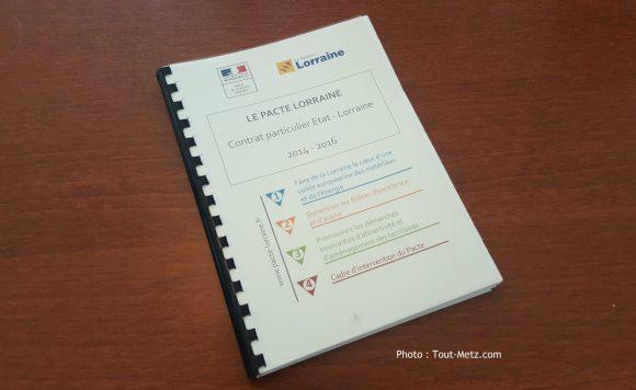 Bientôt collector : le document initial du pacte Lorraine.