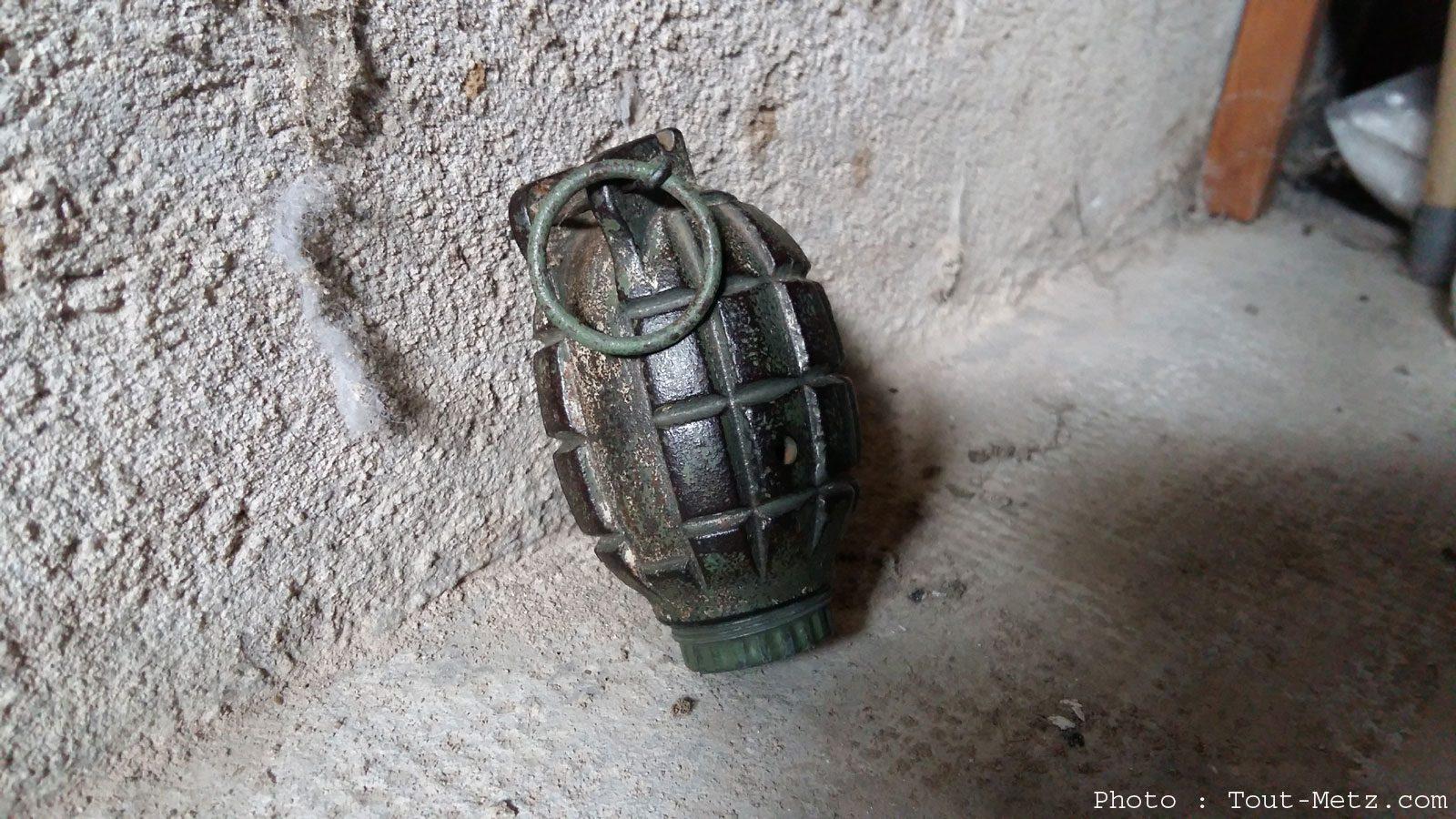 Metz : une grenade en parfait état retrouvée dans la cave d'une maison