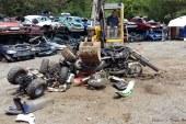 Metz : 27 motos et quads saisis ont été broyés (vidéo et photos)