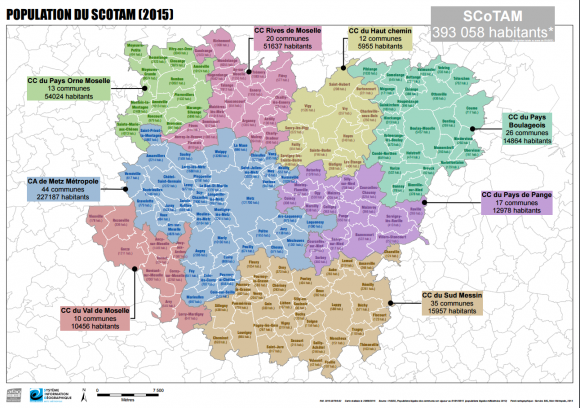 La carte du SCOTAM (2015)