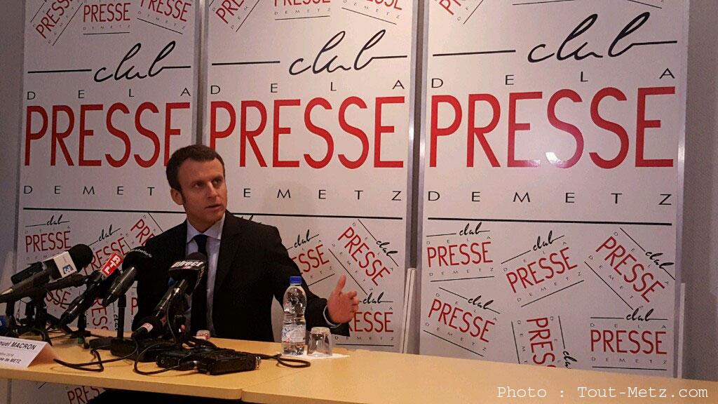 Emmanuel Macron, candidat à la présidentielle, en visite à Metz