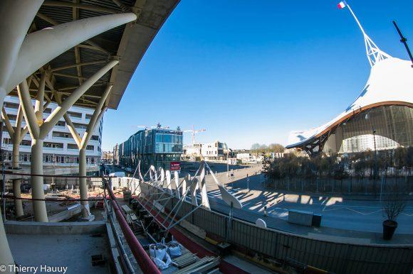 Espace avec vue sur le Pompidou qui sera entièrement vitré.