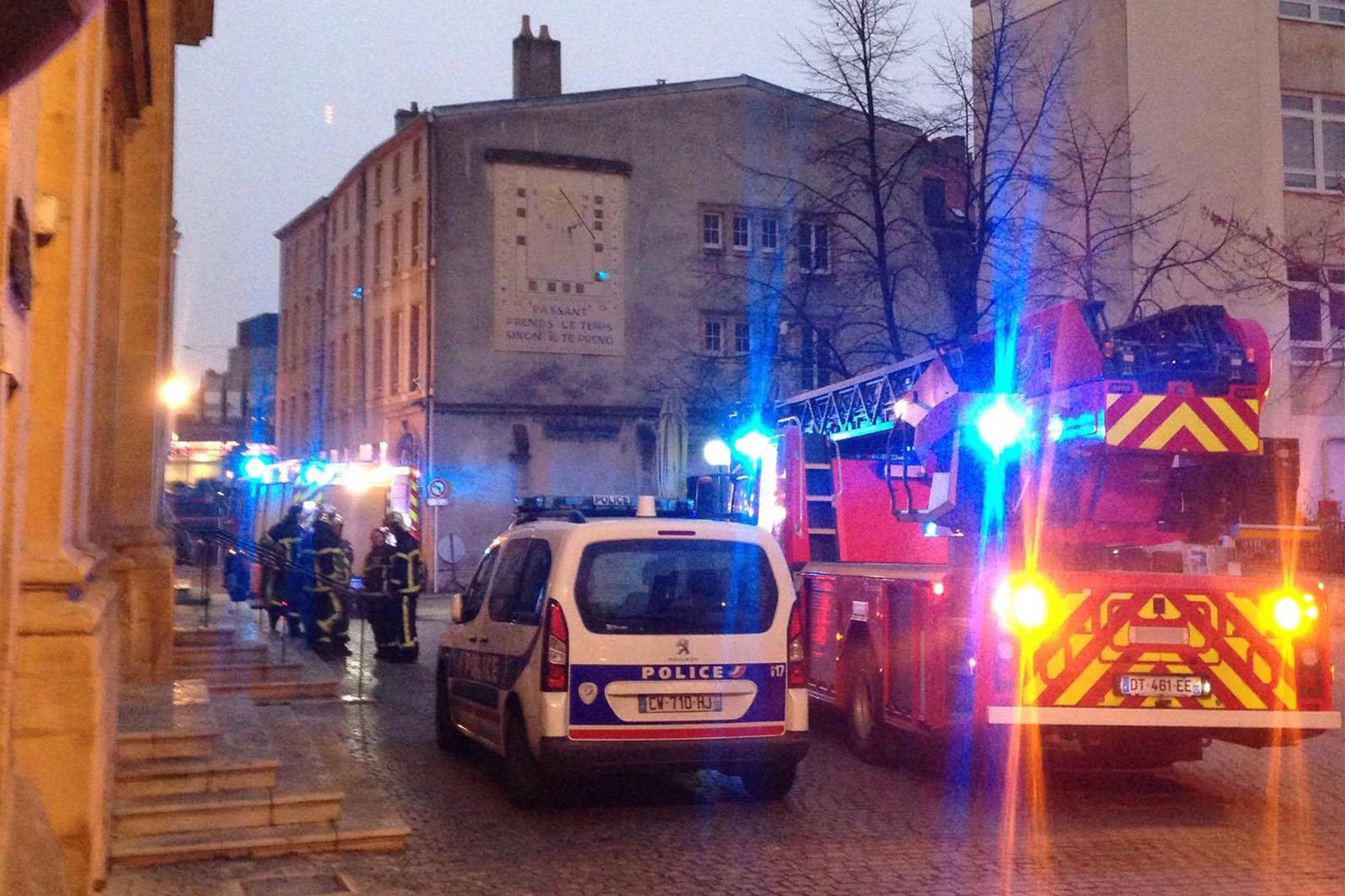 Un incendie dans l'Eglise Notre-Dame à Metz