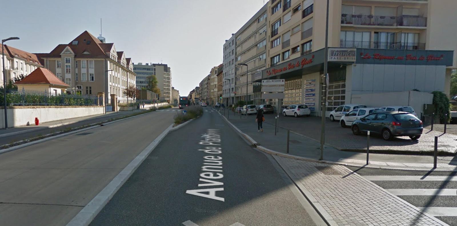 Metz : l'avenue de Plantières barrée