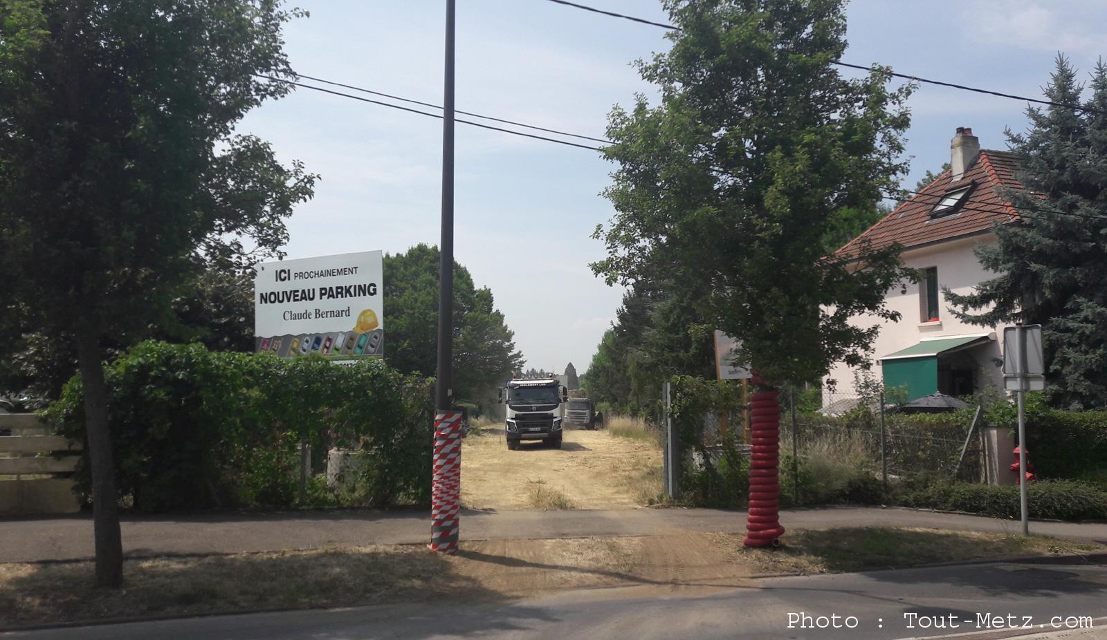 Un nouveau parking en construction à Metz