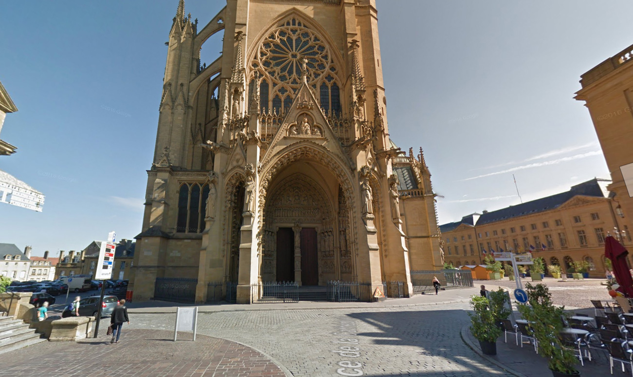 Metz : 2 mois de travaux sur le parvis de la cathédrale
