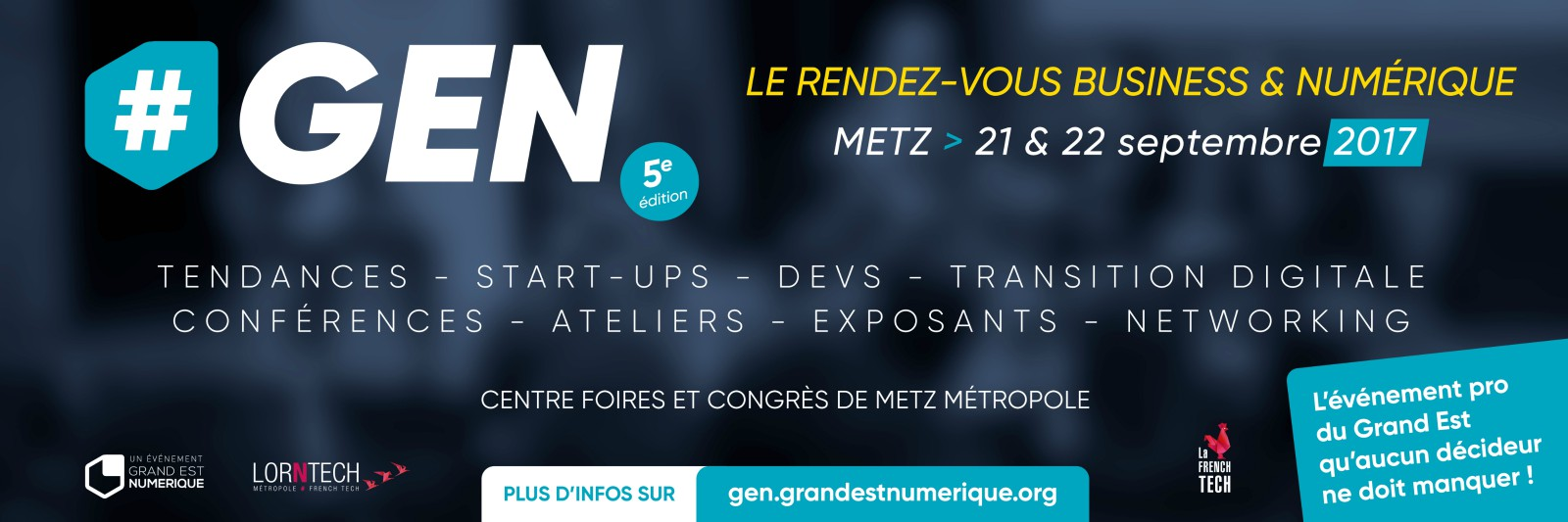 Photo of #GEN : le n°1 de Google France à Metz le 21 septembre 2017