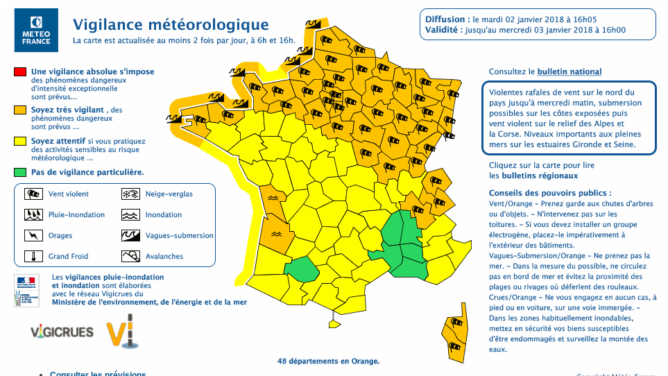 "Photo of La région Grand Est passe en vigilance orange ""tempête"""