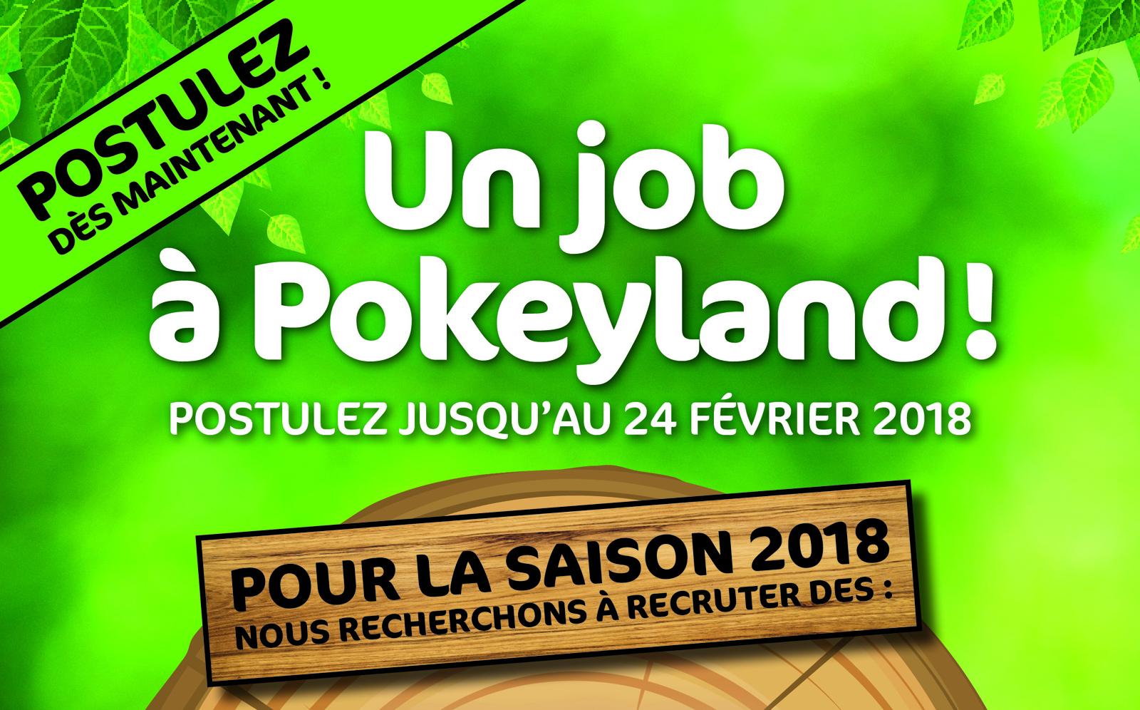 80 emplois à pourvoir au parc Pokeyland avant le 24 février 2018
