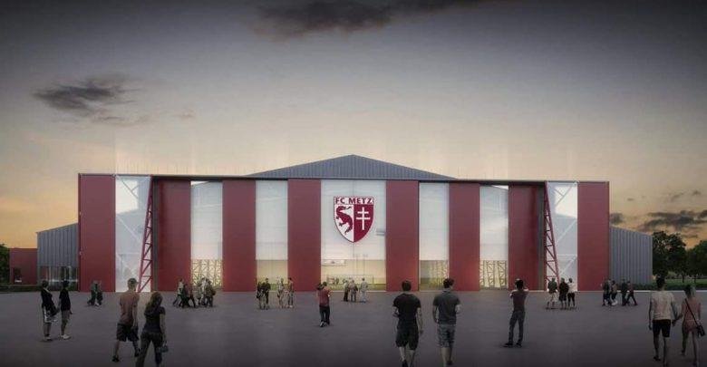 Photo de Frescaty : visite du chantier du futur centre de formation du FC Metz (vidéo)