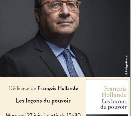 Photo of François Hollande en dédicace à Metz ce mercredi