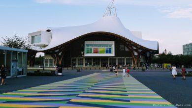 Photo of Pompidou-Metz : un passage piétons en couleurs taille XXL (photos et vidéo)