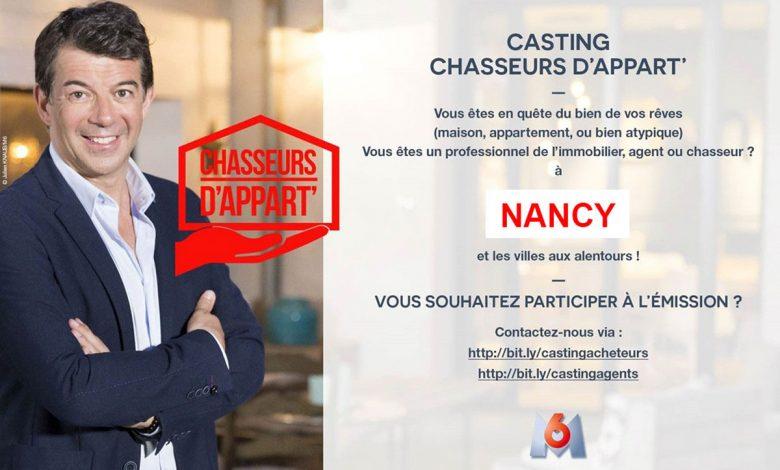 Photo de Lorraine : un casting pour l'émission Chasseurs d'appart' sur M6
