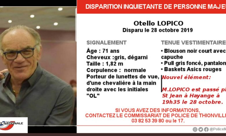 Photo of Hayange : nouvel élément dans la disparition d'Otello Lopico
