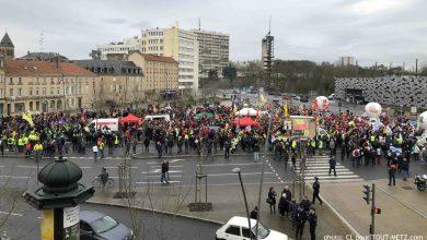 Photo de Manifestation à Metz contre le plan de relance du gouvernement : le centre-ville bloqué