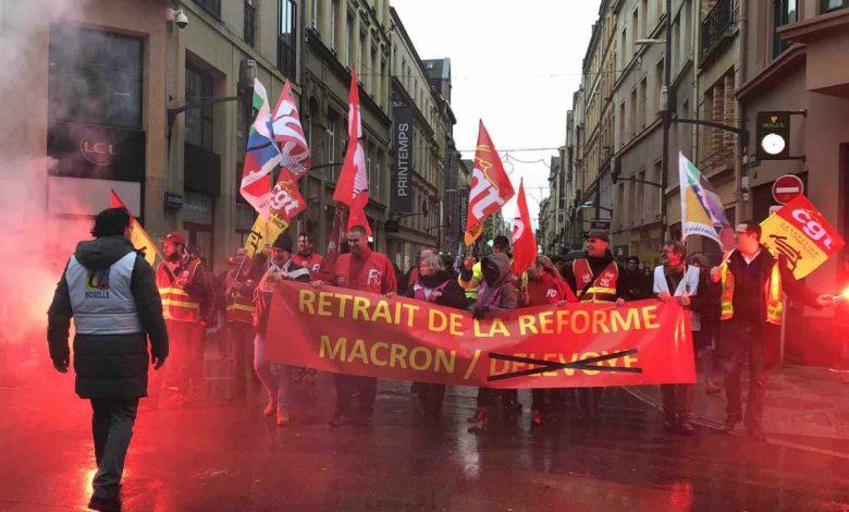 Photo of Retour en images sur la manifestation à Metz contre la réforme des retraites
