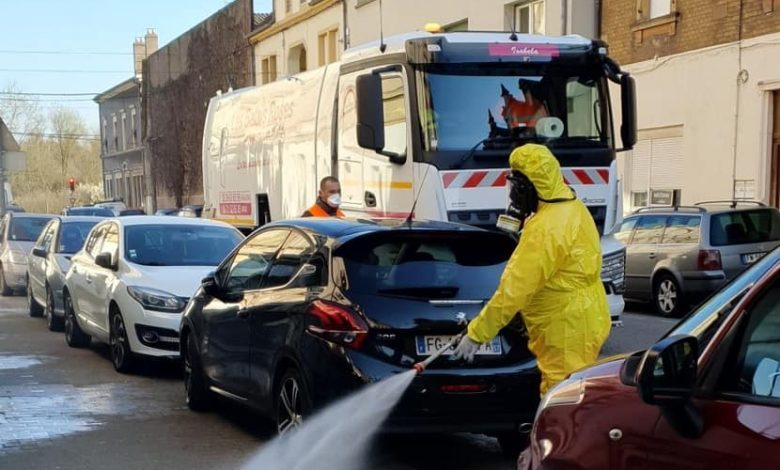 Photo of Coronavirus : Opération désinfection des rues à Amnéville