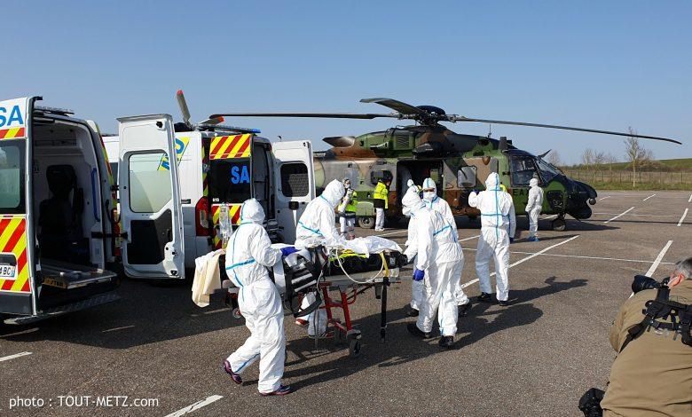 Photo of 1ère évacuation sanitaire coronavirus vers l'Allemagne par l'armée depuis Metz (photos et vidéo)