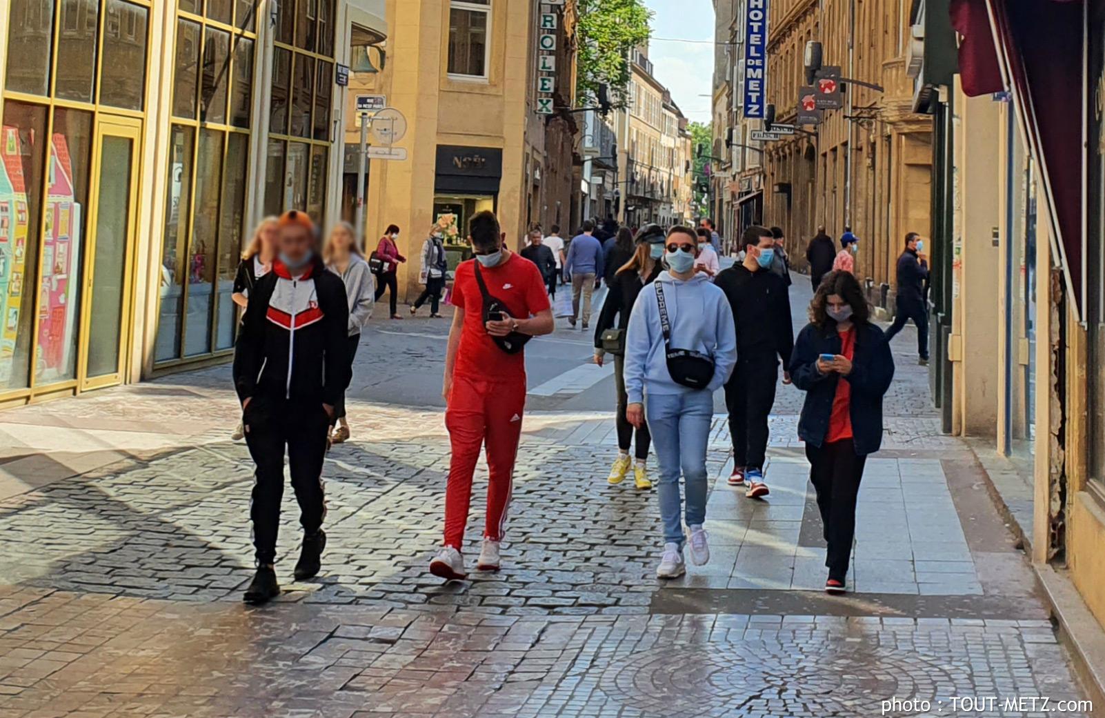 Photo de Metz : masque obligatoire au centre-ville (plan et liste des rues)